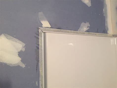 How To Install Drywall Around A Bathtub by Installing L Bead On Shower Drywall Contractor Talk