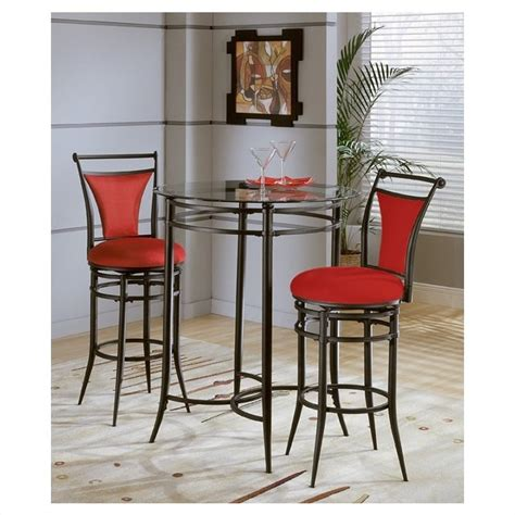 glass pub table and chairs hillsdale cierra mix n match glass top pub table
