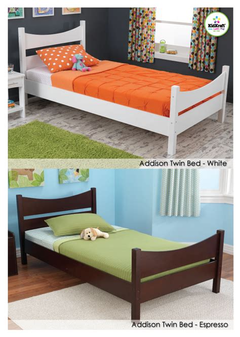 kidkraft twin bed kidkraft introduces new addison twin beds webwire