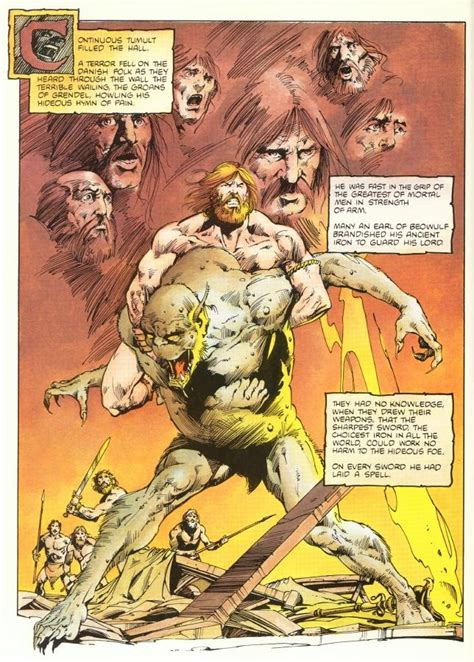 Beowulf Three Battles Essay by Beowulf And Grendel 1984 Comic Book By Jerry Bingham Anglo Saxons Norse And Celts