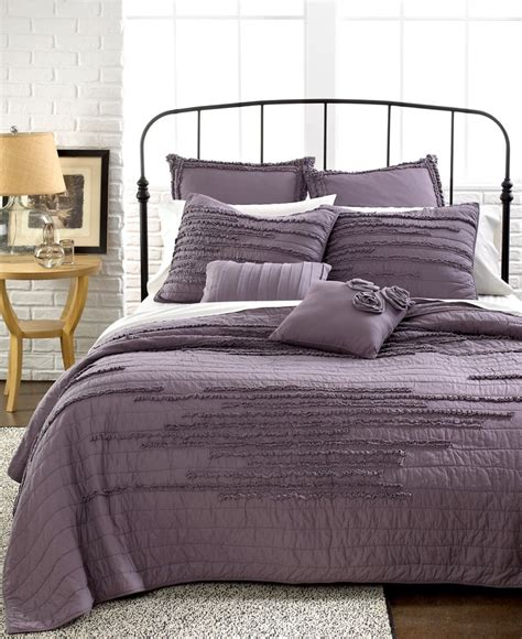 macy s bed comforters nostalgia home bedding neveah purple quilts