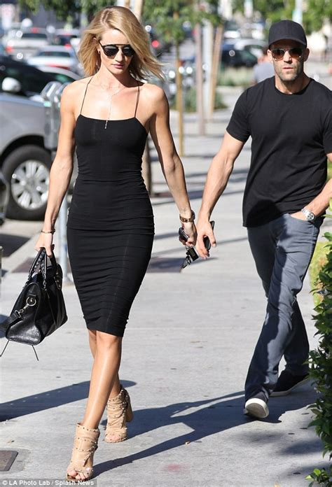 style for 48 year old woman rosie huntington whiteley wears lbd as she and jason
