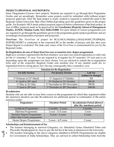 Ignou Mba Project Guidelines by Guidelines For Distance Learners Of Ignou