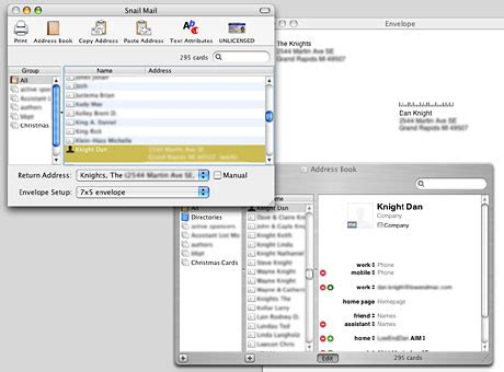 print envelopes from address book mac tricks and tips snail mail prints envelopes from your address book