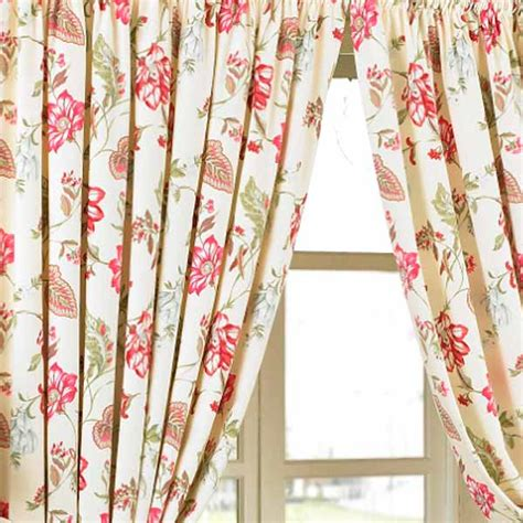 floral drapery panels paoletti ascot pencil pleat lined curtains floral ebay