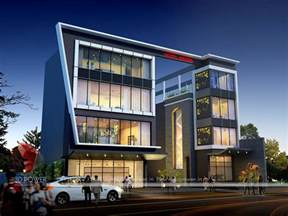 building designer corporate building design 3d rendering exclusive night view