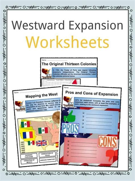 westward expansion facts worksheets impact history for
