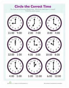 find the time worksheet education com