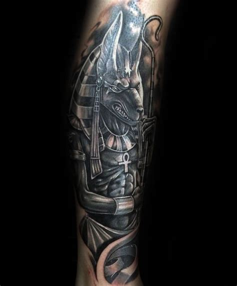 100 anubis tattoo designs for men egyptian canine ink ideas