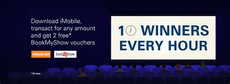 bookmyshow offer free bookmyshow vouchers worth rs 500 icici bank imobile app