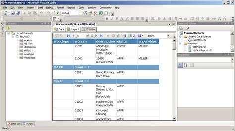 maximo sql ssrs plug in for simpler maximo reports