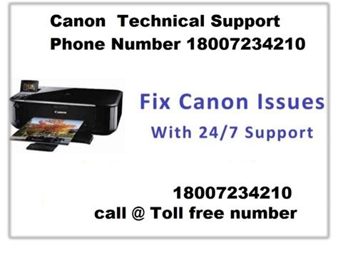 canon printer customer support phone number canon technical support phone number 18007234210