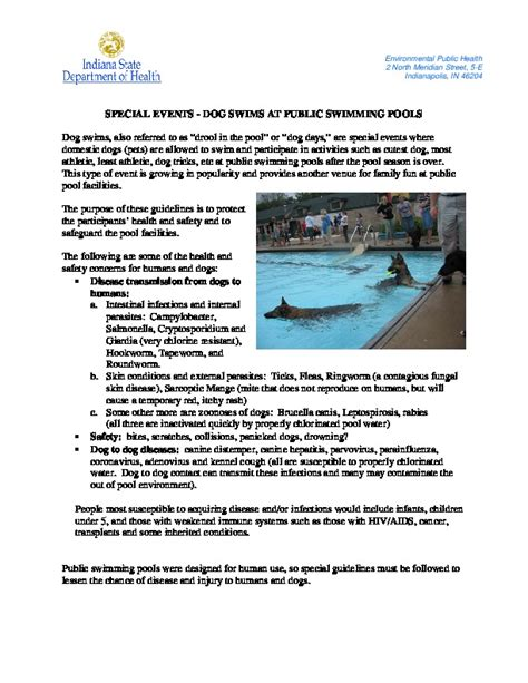 Public Swimming Pools And Spas Fort Wayne Allen County Department Of Health Residential Pool Inspection Report Template