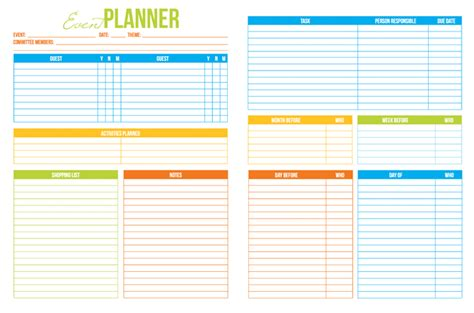 event planner free printable stress free party planning i heart planners