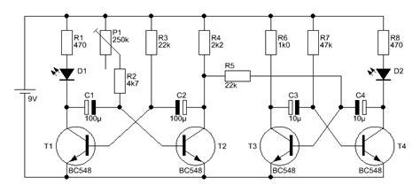 transistor bc548c bc546c bc550c leuchtfeuer