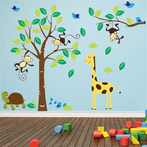 jungle nursery wall stickers jungle wall decals 2017 grasscloth wallpaper