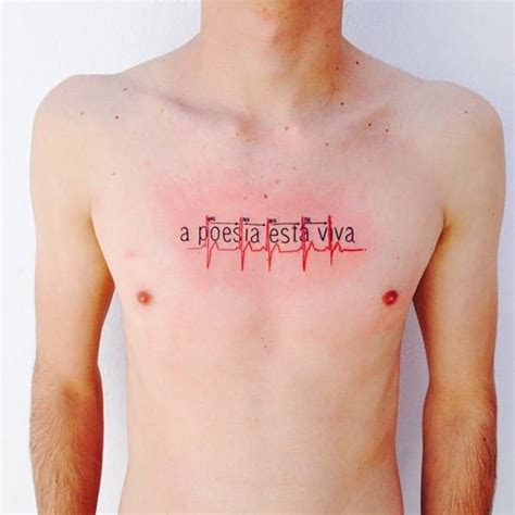 heartbeat tattoo on chest meaning 55 memorable and intriguing heartbeat tattoo ideas