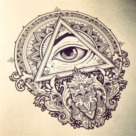 tattoo mandala illuminati eye of providence tattoo tumblr