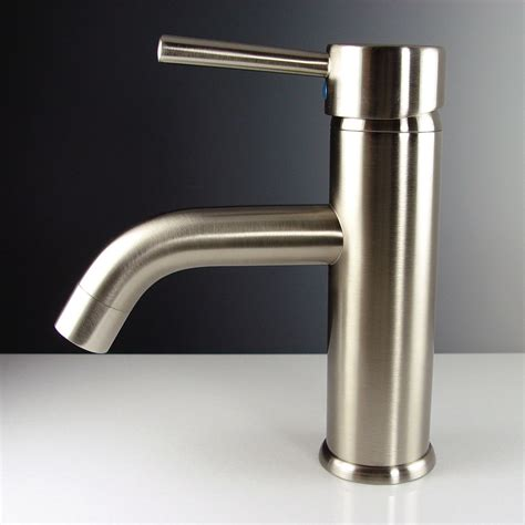 bathroom vanity faucet fresca fft1041bn sillaro brushed nickel one handle