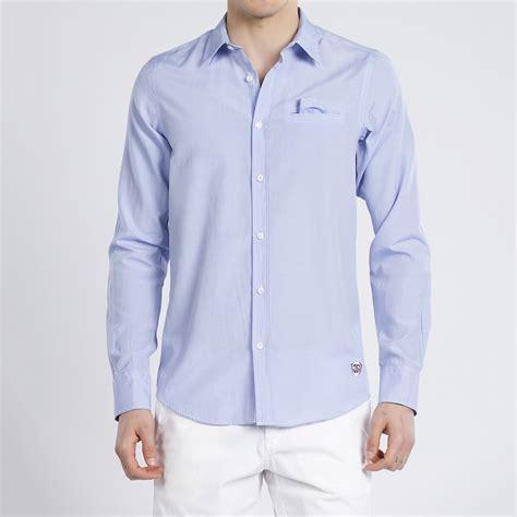 light blue button up button up shirt light blue m jimmy sanders touch