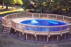 decks around above ground pools pool design ideas pictures