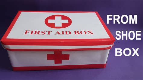 How To Make A Shoe Box Out Of Paper - make easy aid box from shoe box aid kit for
