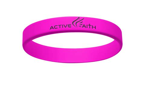 pink band active faith fwm band pink black active faith sports