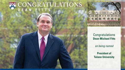 Wharton Jd Mba Acceptance Rate by Penn Dean Michael A Fitts Named President Of Tulane