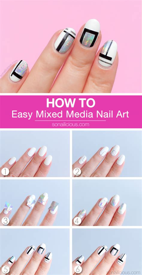 Cool Simple Nail by Simple But Cool Mixed Media Nail Tutorial