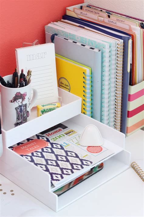 organized office desk desktop organization on cubicle ideas