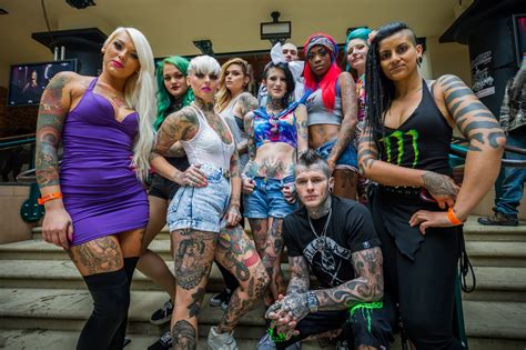 tattoo convention ontario in pictures performers of 9th international london tattoo