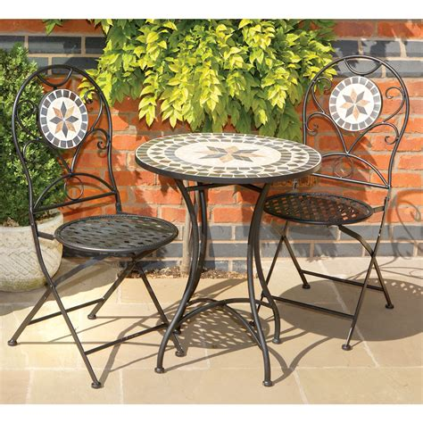 Mosaic Patio Table And Chairs Florence 2 Seater Garden Table And Chairs Set Mosaic Metal Patio Outdoor Ebay