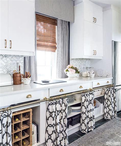 kitchen cabinet curtain ideas  designs