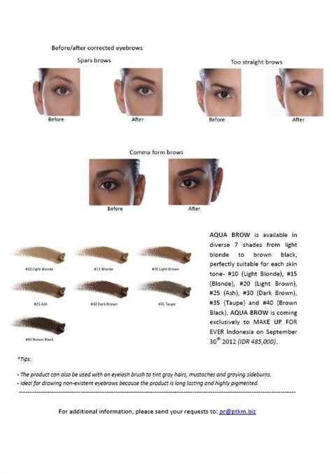 Makeup Forever Aqua Brow while you on earth aqua brow by make up for press release