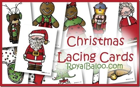 free printable christmas lacing cards cute christmas themed preschool printable packs and more