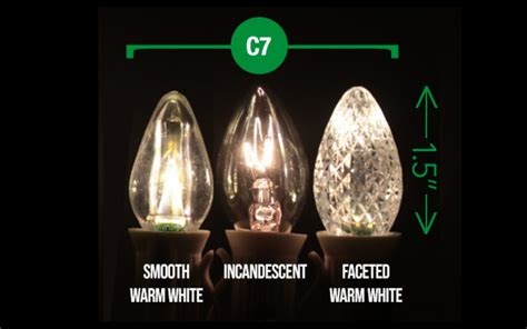difference between c7 c9 led what is the difference between c7 and c9 bulbs light source