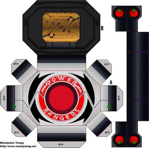 Power Ranger Papercraft - power morpher silver season 2 by 80sguy on deviantart