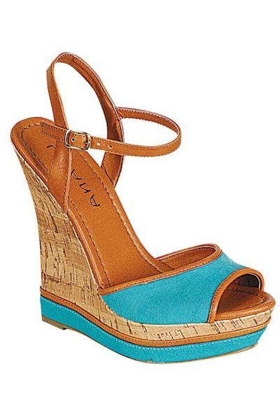 Sandal Wedges Sl10 Hitam 36 wedge sandals turquoise 36 00 shoes summer