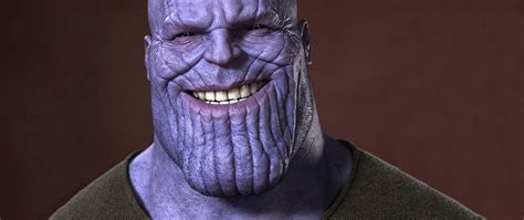 thanos smiling full hd wallpaper