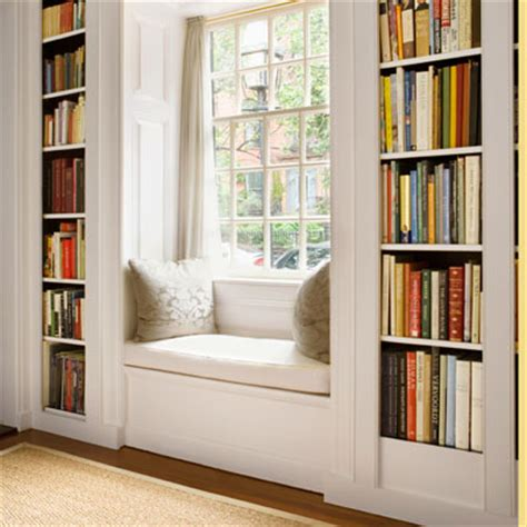 window seat with bookcases on each side myideasbedroom