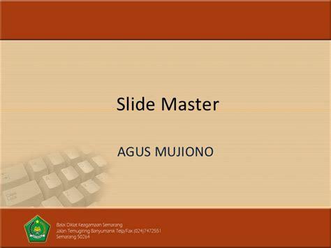 Membuat Powerpoint Slide Master | tips membuat slide master template