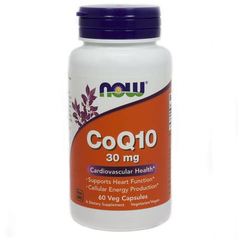 supplement q10 coq10 coenzyme q10 30 mg by now foods 60 vegetarian capsules