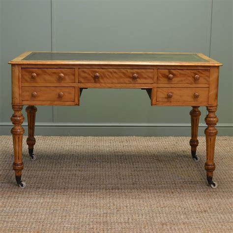 stunning quality satin birch antique desk