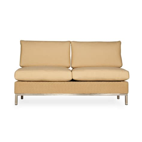 armless settees lloyd flanders elements armless settee with stainless