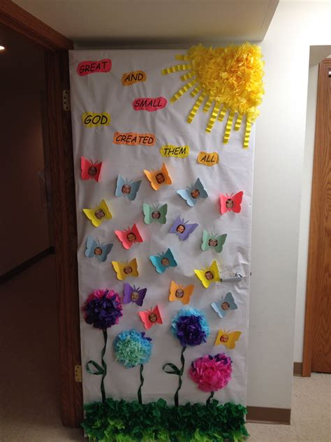 door decorations for spring spring door decoration bulletin board ideas pinterest