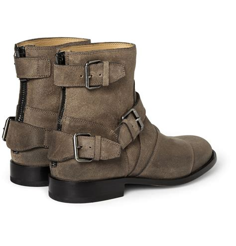belstaff boots mens lyst belstaff trialmaster oiledsuede boots in green for