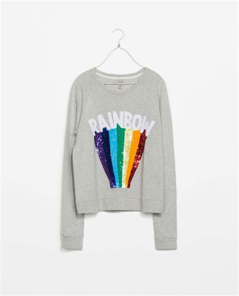Zara Rainbow sweatshirt not another mummy