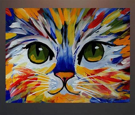easy cat painting ideas the 25 best acrylic paintings ideas on canvas