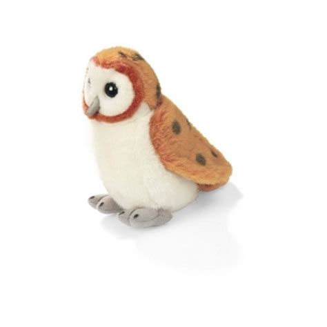 barn owl audubon stuffed animal with bird song stuffed