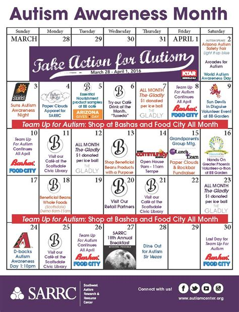 get more out of the calendar with resource booking and ical support sarrc releases autism awareness month calendar of events
